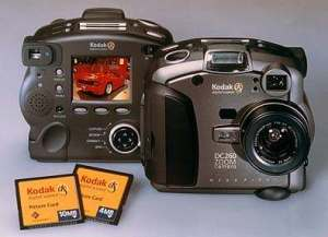 Kodak DC260 back view