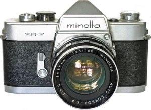 Minolta camera 1960s front shot