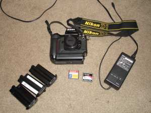 Nikon D1 with accessories